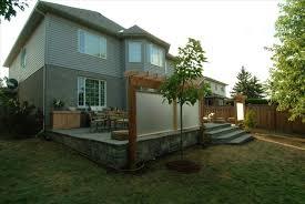 Backyard Ideas For Sloping Yards Downward Sloped Backyard Ideas Backyard Fence Ideas