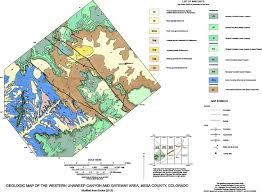 Gateway Colorado Map Geology Of Unaweep Canyon And Its Role In The Drainage Evolution