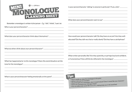 Examples Of Interior Monologue Writing A Monologue Powerpoint And Activity By Emmaline85
