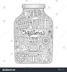 christmas jar vector hand drawn jar stock vector 483750478