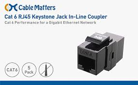 amazon com ul listed cable matters 5 pack cat6 rj45 keystone