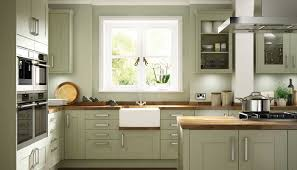 cherry wood driftwood lasalle door sage green kitchen cabinets