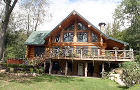 panelized modular and full log homes northern paradise image with