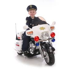 kid motorz police motorcycle 12 volt battery powered ride on
