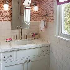 wallpaper for bathrooms transitional bathroom thibaut design
