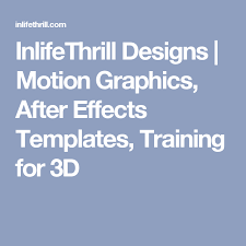 inlifethrill designs motion graphics after effects templates