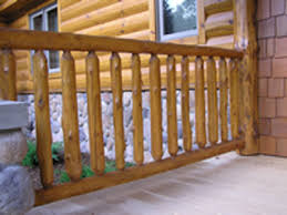 Spindle Banister Cedar Log Railing Spindles Minnesota Log Railing Factory
