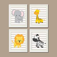 Jungle Nursery Wall Decor Jungle Nursery Wall Elephant Giraffe Zebra Zoo Safari