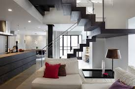 U Stairs Design U Shaped Stair Design For Modern Basement Decorating Ideas With