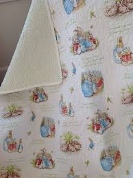 rabbit crib bedding beatrix potter rabbit baby toddler quilt rabbit