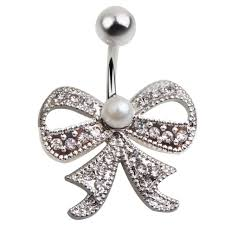 butterfly belly button rings surgical steel 14g navel