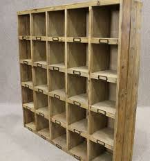 reclaimed pine bookcase letter rack pigeon hole bookcase perfect for