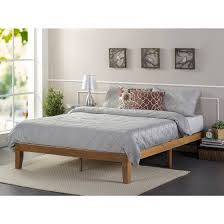 Wood Platform Bed Frames Zinus Solid Wood Platform Bed Rustic Pine Sizes