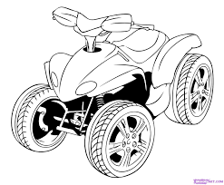 how to draw a four wheeler step by step motorcycles