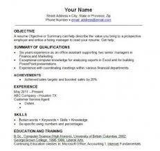 best template for resume best resume outline pertamini co