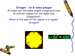 What Is The Sum Of Interior Angles Of A Octagon Polygons By Leinard