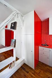 picturesque apartments furnishing decors with white and red