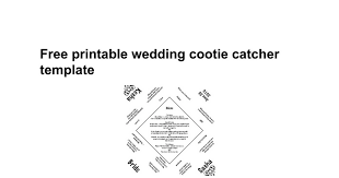 cootie catcher wedding program template free printable wedding cootie catcher template docs