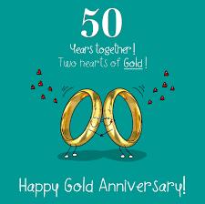 50th wedding anniversary greetings fax potato 50th wedding gold anniversary card