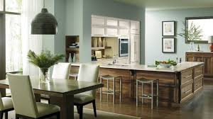 kitchen with painted maple and walnut cabinets omega