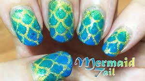 gorgeous mermaid tail nail art with vinyls youtube