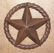 cast iron star plaque craft garden country rustic decor