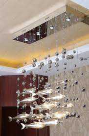 Pendant Fishing Light Best Quality Postmodern Modern Led Glass Flying Fish Chandeliers