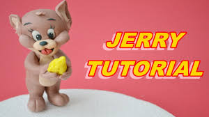 tom and jerry cake topper tutorial jerry cake topper sugar paste fondant pasta di zucchero