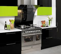 Black Green Kitchen Decoration Using Light Green And Black Neon - Black laminate kitchen cabinets