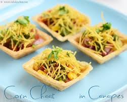 indian canapes ideas canapes chaat canape chaat recipe raks kitchen
