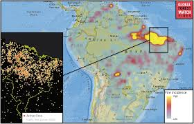 Wildfire Map America by Sharp Rise In Wildfires In The Brazilian Amazon Over The Past 16 Years