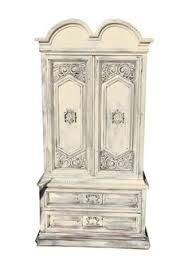 Tall Armoire Furniture Shabby Chic White Traditional Tall Armoire 499 Shabbychic