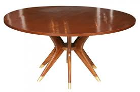 mid century round dining table mid century modern dining table mcm table internal leaf 002 city