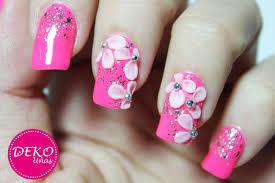 decoracion de uñas flores 3d 3d nail art flowers youtube