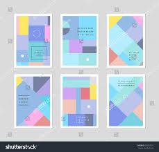 Cards Invitation Set Creative Universal Cards Design Poster Stock Vector 428324521