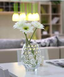 Dining Room Table Vases Wholesale Handmade Clear Glass Vase Candle Holder With Bubble For