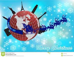 santa around the world stock vector image of light gift 17217121