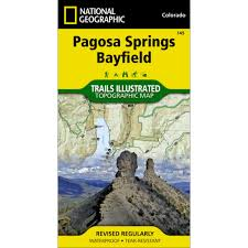 Colorado Springs Trail Map by 145 Pagosa Springs Bayfield Trail Map National Geographic Store