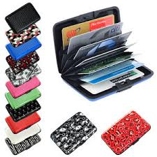 Pocket Business Card Holder Metal Pocket Waterproof Business Id Credit Card Wallet Holder Aluminum