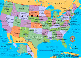 us map by states and cities us map with cities states map of united states with states and