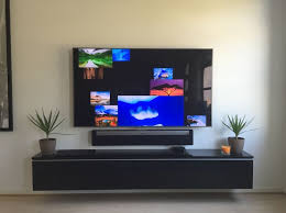 Interior Design Tv Wall Mounting by Best 25 Wall Mounted Tv Unit Ideas On Pinterest Tv Cabinets Tv