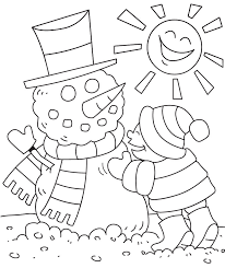 winter coloring snowman coloring pages free at free eson me