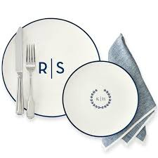 monogrammed plate monogrammed porcelain dinner plate and graham
