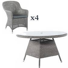 alexander rose monte carlo 4 seat dining set