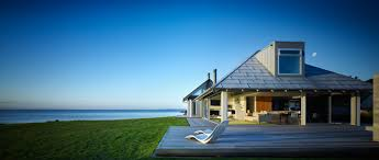 innovative coastal house design separate pavilions architecture