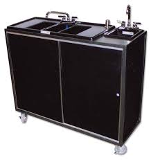 three compartment sink faucet portable 3 compartment with drainboards plus independent hand sink