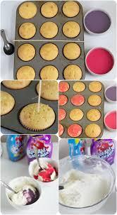 kool aid poke cupcakes cookie dough and oven mitt