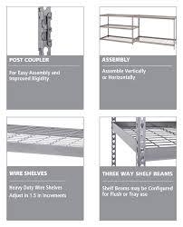 Home Depot Heavy Duty Shelving by Husky 78 In H X 48 In W X 24 In D 5 Shelf Steel Unit Mr482478w5