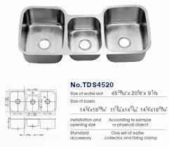 Triple Basin Kitchen Sink by Triple Bowl Sink