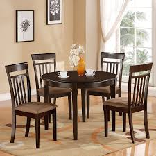shop east west furniture bosca cappuccino dining set with round